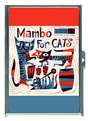 Wallet Mambo (Mambo For Cats 1950s Retro Fun Stainless Steel ID or Cigarettes Case (King Size or 100mm))