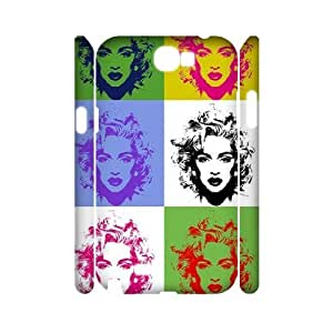 YUAHS(TM) Unique Design 3D Cell Phone Case for Samsung Galaxy Note 2 N7100 with Madonna YAS052249