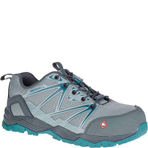 Womens Non Metallic Safety Toe - Merrell Fullbench Comp Toe Work Shoe Women 7.5 Monument