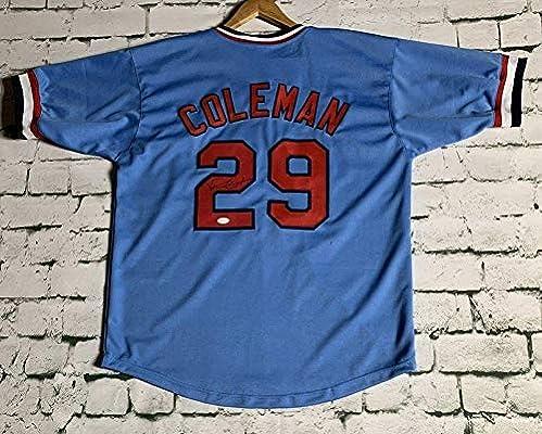 250c8adac Vince Coleman Signed Autographed St. Louis Cardinals Throwback Baseball  Jersey - JSA COA
