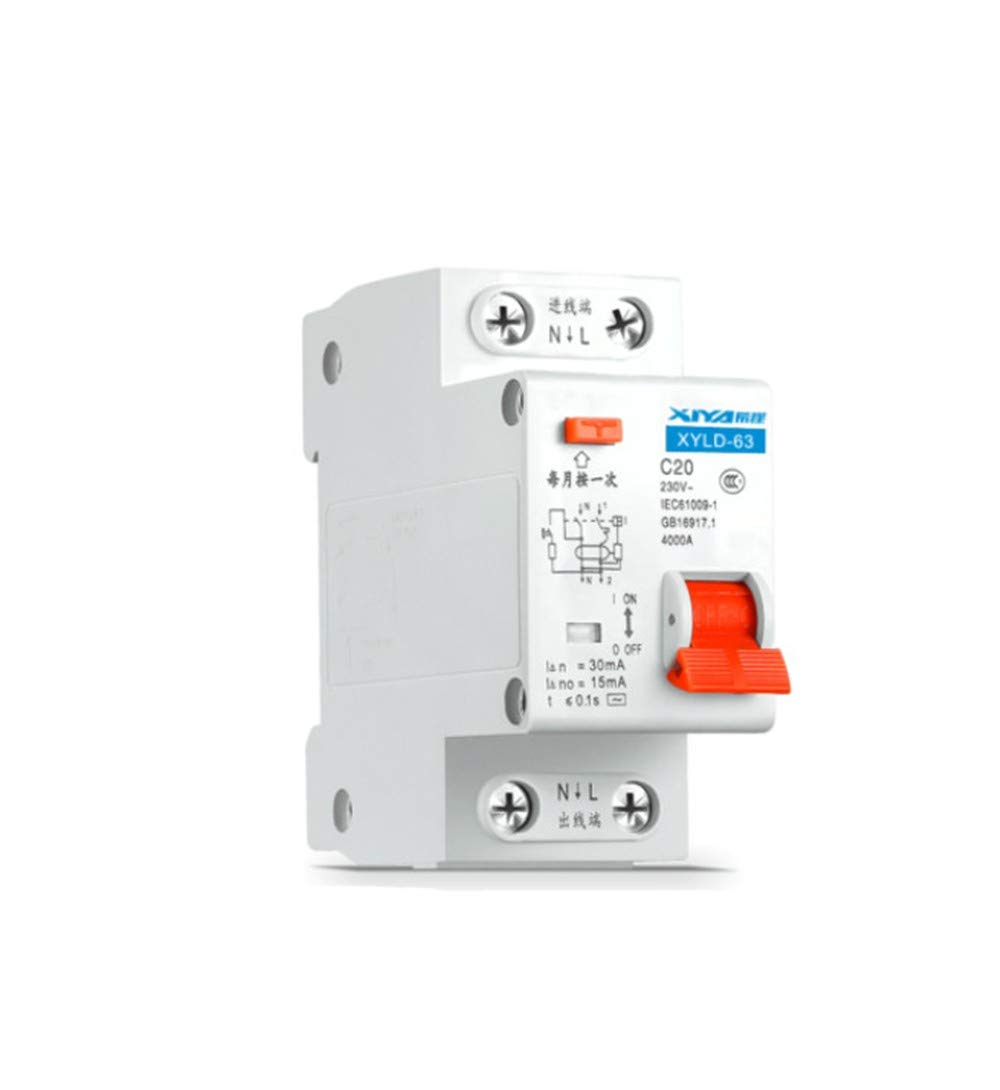 OIASD Disyuntor, Interruptor de Aire, Aire, Aire, Protector de Fugas Protector de Fugas Interruptor de protección contra descargas eléctricas 2P63A disyuntor de Fugas C63 32adz47le protección contra Fugas, 63A ef0d94