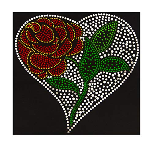 Iron-On Sequins DIY applique. Cute, sparkly hotfix embellishment. Heart