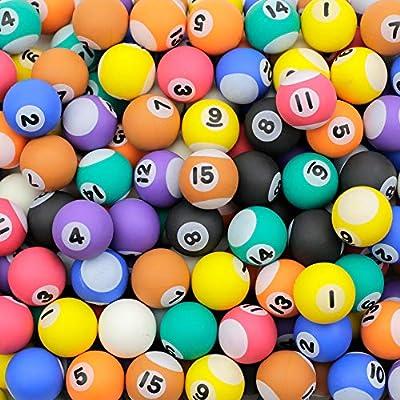 Entervending Bouncy Balls Bulk Little Pool Balls for Kids and Gumball Machine 100 pcs 27 mm 1.06