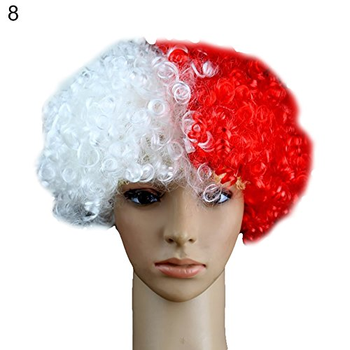 lightclub Colorful National Flag Wig Country Football