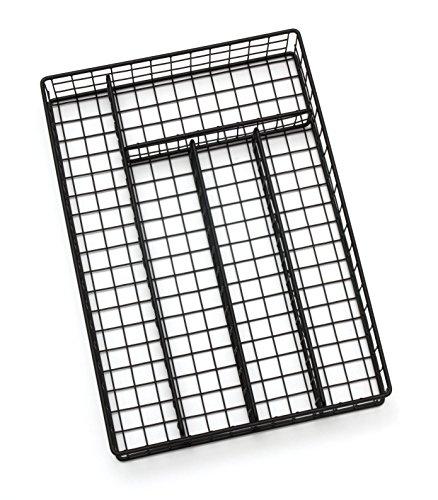 Lipper International 8177 Flatware Organizer, 5 Compartments, Metal Wire, 10