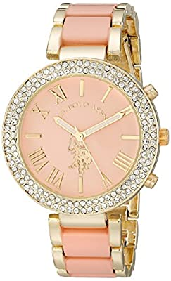 U.S. Polo Assn. Women's USC40063 Gold-Tone and Pink Bracelet Watch from Accutime Watch Corp.