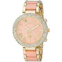Asociación de Estados Unidos de Polo. Reloj USC40063 para mujer en tono dorado y rosa.