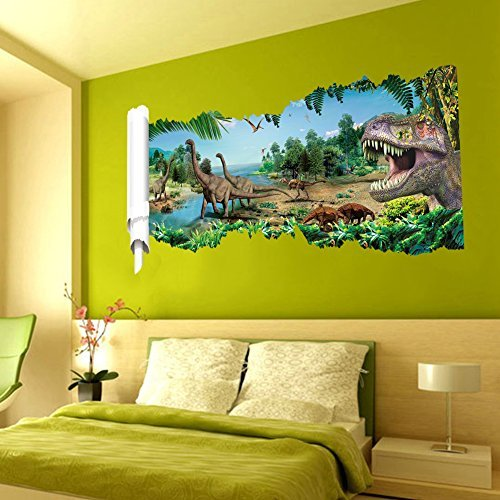 Ryuan Jurassic Park Dinosaur Scrolls Picture Wall Sticker Ho