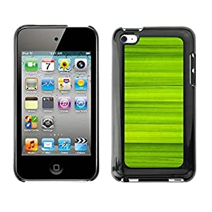 Soft Silicone Rubber Case Hard Cover Protective Accessory Compatible with Apple IPod Touch 4 - Simple Green Pattern 40