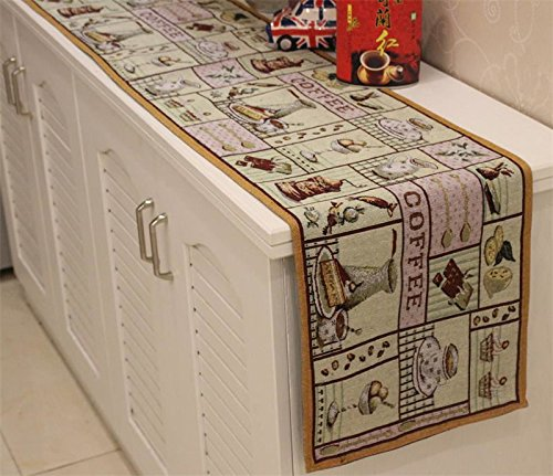 coffee cup table runner - 2