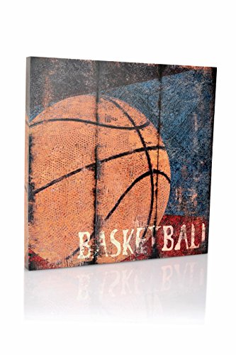 Basketball Sports Canvas Wall Art | Boys Bedroom Décor | Kids Room | Vintage Sports Art | Baskeball Decor | for Sports Room andamp; Game Room | Great Gift | Large Size 18