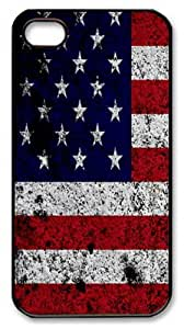 Grunge USA15 PC Case Cover for iPhone 4 and iPhone 4S Black