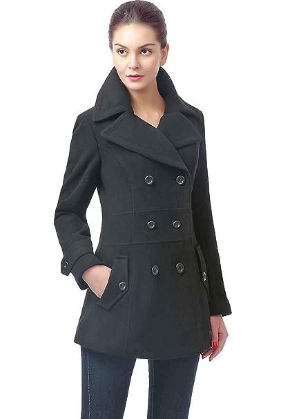 650905390 BGSD Women's Joann Wool Blend Pea Coat (Regular Plus & Short)