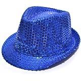 HuaYang Nouveau paillette style chapeau panama pour les enfants(Bleu ciel)