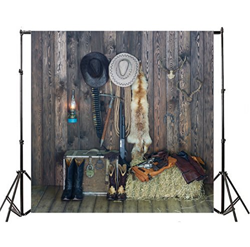 - Yeele 10x10ft west Cowboy Backdrops Lasso Jeans Cowboy Hat Cowboy Boots Revolver Hero Folklore Protection Ranch Photography Background Baby Portrait Photo Shoot Studio Props