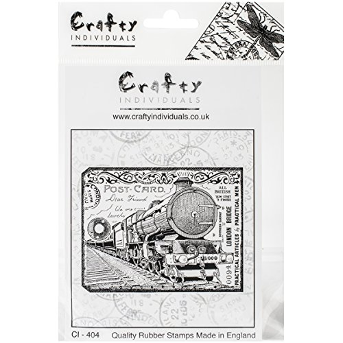 Crafty Individuals Unmounted Rubber Stamp, Chunky Steam Train Tag