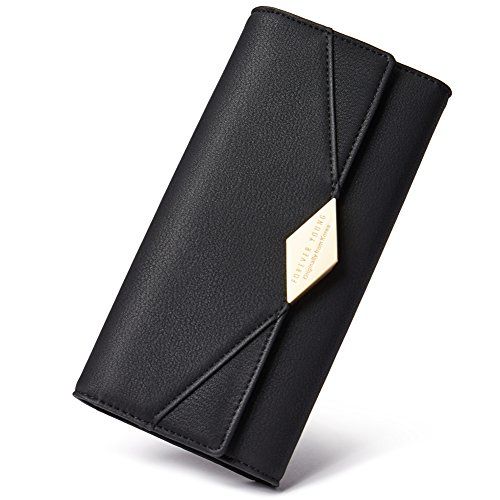 Ladies Black Checkbook Wallet - 7