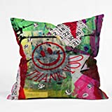 Deny Designs Sophia Buddenhagen Bright Bingo 1 Throw Pillow, 16 x 16