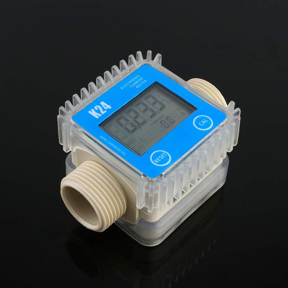 Flow Meter K24 LCD Turbine Digital Diesel Fuel Flow Meter Check Valve Widely Used for Chemicals Water