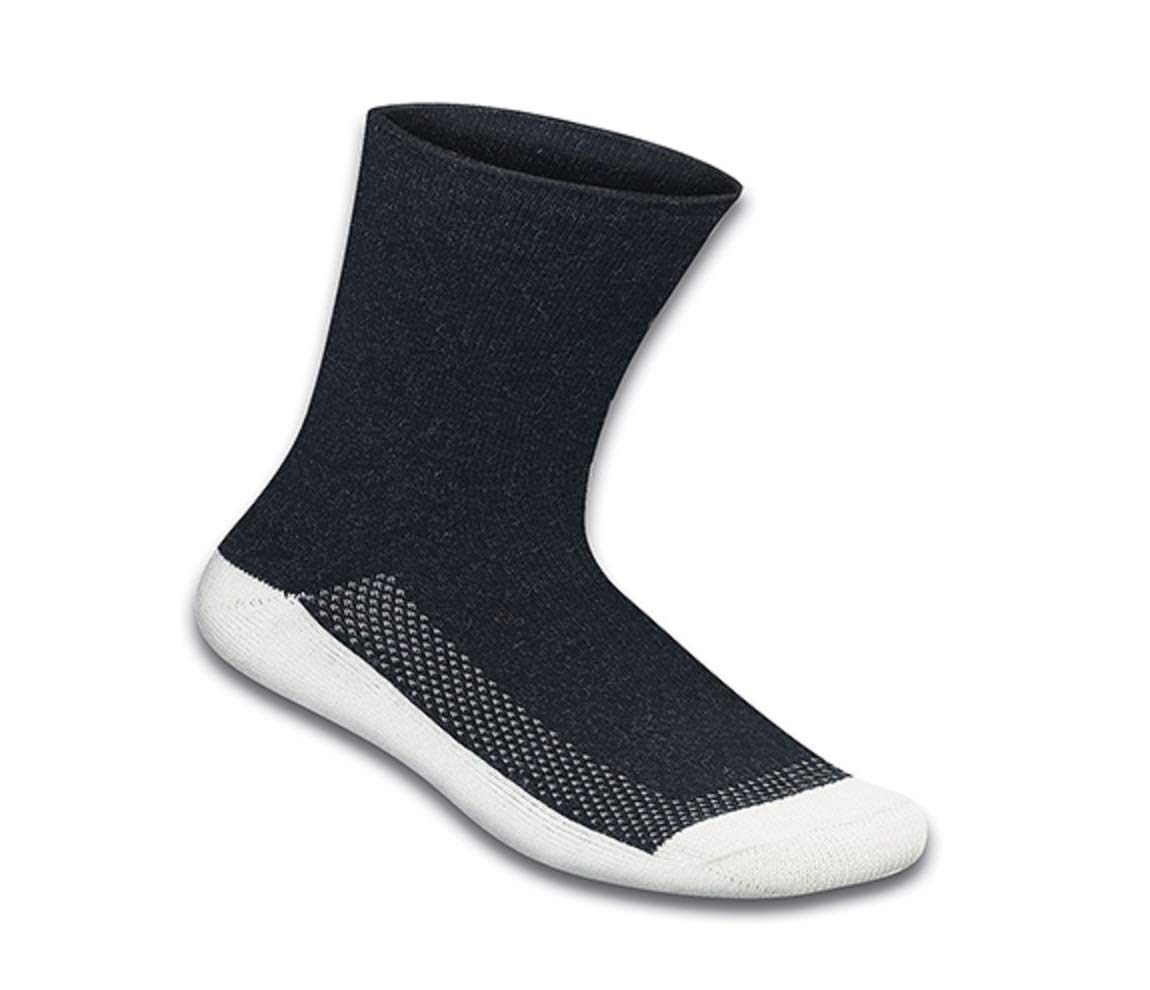 Orthofeet Extra Roomy Non-Binding Non-Constrictive Circulation Seam Free Bamboo Socks Black, 3 Pack Large by Orthofeet