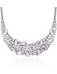 Fashion Statement Necklace Bling Rhinestone Choker Collar Chunky Jewelry