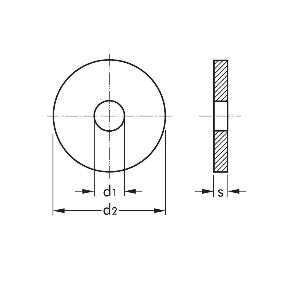 Unterlegscheiben M8 DIN 9021 50x U-Scheiben Beilagscheibe DIN9021 Unterlegscheibe Stahl verzinkt Scheibe Form A ARLI Beilagscheiben flach U Scheiben Karosseriescheiben M 8 50 St/ück