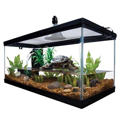 Reptile Habitat Setup Aquarium Tank Kit Filter Screen Lid...