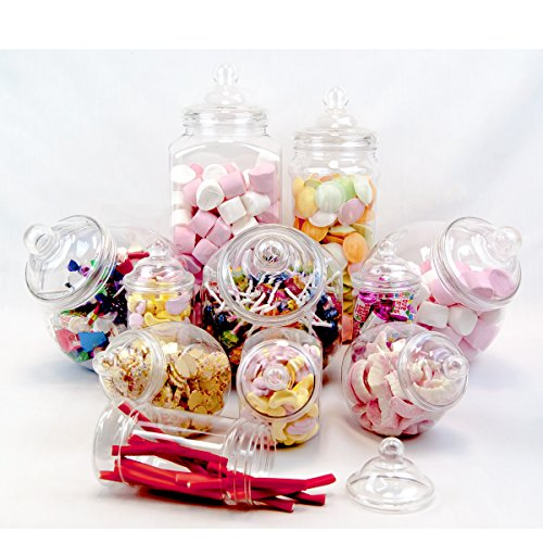 Plastic Jar Party Pack-11 Assorted Jars by jars2u -
