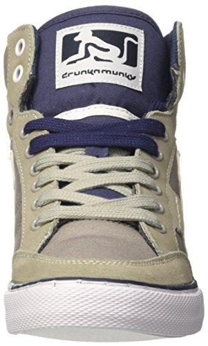 DrunknMunky Boston Classic, Zapatillas de Tenis para Hombre Grigio (Dark Grey/Navy)