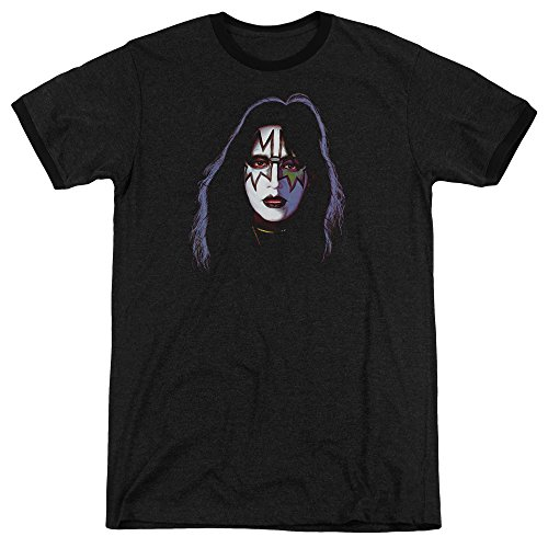 Cover Ace (Kiss Ace Frehley Cover Unisex Adult Ringer T Shirt for Men and Women)