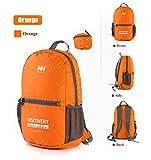 Naturehike Ultralight Outdoor Packable Backpack Hiking Daypack Folding Bag Camping Backpack Climbing Bag for Travel Biking School Air Travelling Most Durable Lightweight for Men/Women (Orange)