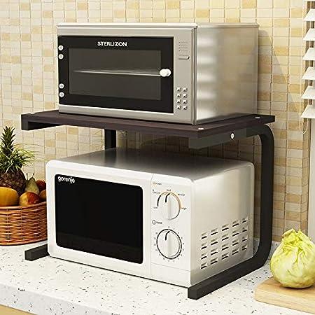 Estante de la cocina, horno de microondas, doble, cocina, arroz ...