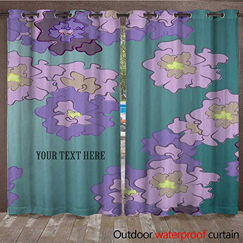 RenteriaDecor Outdoor Curtains for Patio Sheer Leaflet Cover Presentation Abstract Geometric Background Layout in A Set Technology brochure Flyer Design Template vect W84 x L108 -