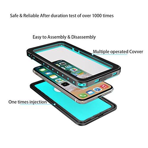 Generisches Wasserdichte Handy Fall Dot Für Iphone X Stoßfest Dirtproof Snowproof Telefon (Schwarz) oGucNIT