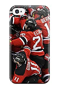 Iphone 4/4s Case Cover - Slim Fit Tpu Protector Shock Absorbent Case (new Jersey Devils (70) )