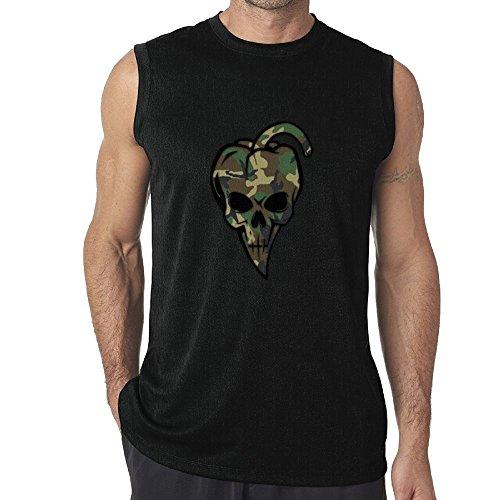 Pepper Skull T-shirt - Sleeveless Tanks Tops T-Shirt Fit Mens Chili Pepper Shaped Camouflage Skull