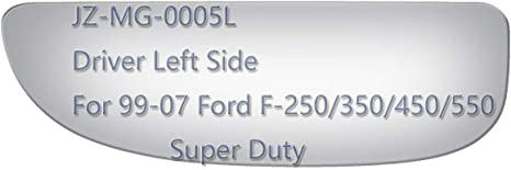 JZSUPER Lower Towing Mirror Glass for 2017 2018 2019 Ford F250 F350 F450 F550 Super Duty Pickup Truck Driver Left Side LH Convex Replacement Including Adhesive