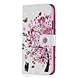 samsung galaxy xcover 4 Galaxy Xcover 4 Case, Bear Village PU Shock-Proof Protective Case with Credit Card Holder Slot, 3D Style Leather Flip Folio Cover for Samsung Galaxy Xcover 4 (#4 Cat Tree)