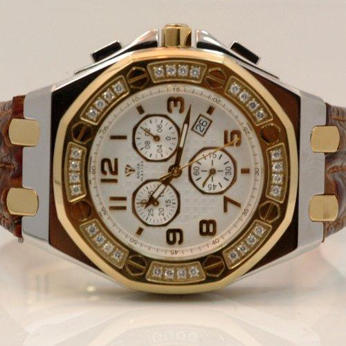 Aqua Master Royal Oak Mens Diamond Watch 1.50ctw W3251 by Aqua Master