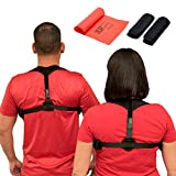 JLR Industry Posture Corrector For Women, Men & Kids – Back Pain Posture Support - Easy Adjustable, Breathable & Comfortable Back Brace Supporter & Underarm Pads & Resistance Band – Improve Back Pain