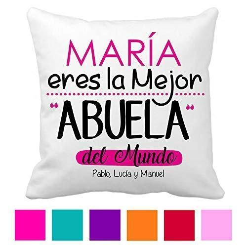 Cojin Abuela/Personalizado/Tamaño 40x40 cm/Regalo Original ...