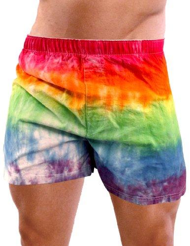 Rainbow Boxers for Men or Women, Tie Dye Gay Pride Mens. -.