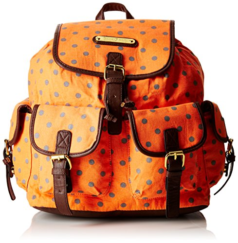 Polka Smith Handbag Dot Ladies Rucksack Backpack Bag New Orange Anna 6qagH