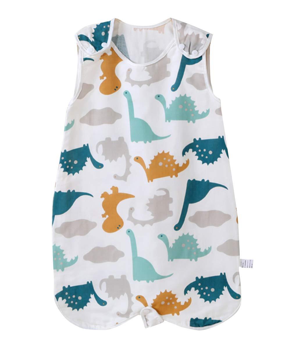FEOYA Infant Baby Summer Wearable Blanket Anti-Kick Lightweight Breathable Cartoon Vest Pajamas Cotton