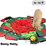 SNiFFiz SmellyMatty Snuffle Mat for Dogs - Interactive Food Puzzle Toys Package ( Large Nosework Blanket + 5 Treat Puzzles ) - Slow Feeding Games with Stress Relief for Boredom
