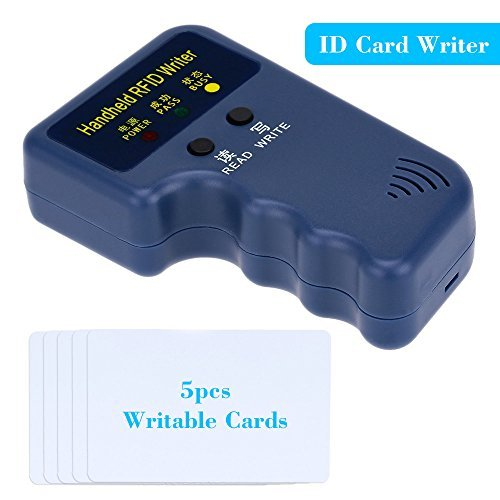 KKmoon Handheld 125KHz RFID ID Card Writer/Copier Duplicator + 5pcs Writable T5577 Cards