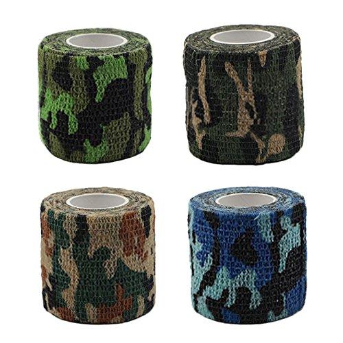 D-C-fix ® Fasce Elastiche Pet, Camouflage Haft Bandage bendaggio elastico autoadesiva In fasciatura coesiva benda di fissaggio elastico per Animale Domestico (Random Color Delivery) Beatie