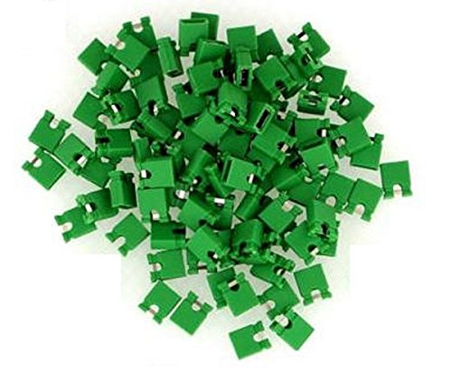 2.54mm Standard Computer Jumper Caps 100pack - Green by CorpCo