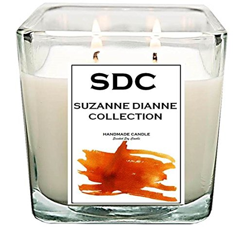 Creme Brule Soy Candle - SDHOME COLLECTION 100% Soy Scented Candles Handmade in USA - Long Lasting Fragrance (Creme Brulee, 15 oz)