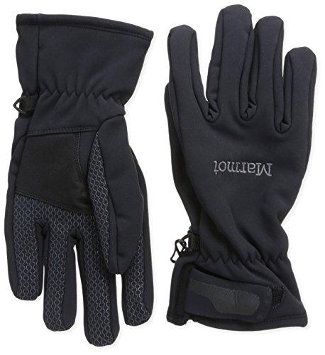 Marmot Men's Glide Softshell Glove, Black, Medium